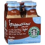 Starbucks Coffee Frappuccino Light Coffee Drink 4 Pack Mocha