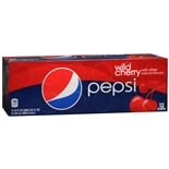 Pepsi Soda 12 Pack Cans Wild Cherry