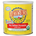 Earth's Best Organic Soy Infant Formula Powder 25.75 oz Can makes 190 Fluid Ounces