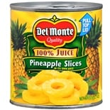 Del Monte Pineapple Slices in 100% Juice