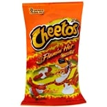 Cheetos Cheese Flavored Snacks Crunchy Flamin' Hot