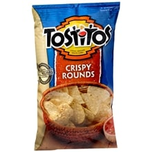 Stone-Ground White Corn Tortilla Chips, Crispy Rounds