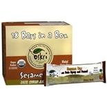 Oskri Organics Sesame Bars 18 Pack Date Syrup and Fennel