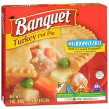 Pot Pie Frozen Entree, Turkey