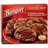 Banquet Family Size Frozen Entree Salisbury Steak & Brown Gravy