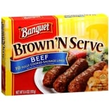 Banquet Brown 'N Serve Fully Cooked Frozen Sausage Links Beef