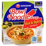 Nongshim Bowl Noodle Soup Hot & Spicy Beef Flavor
