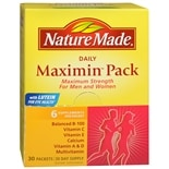 Nature Made Maximin Pack Daily Supplement Packets for Men and Women 6 supplements/packet