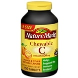 Nature Made Vitamin C 500 mg Dietary Supplement Chewable Tablets Orange Flavor
