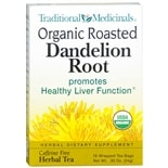 Traditional Medicinals Organic Herbal Dietary Supplement Tea Bags Roasted Dandelion Root
