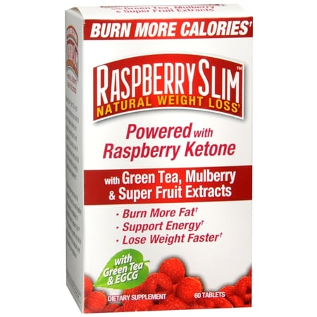 Raspberry Slim Natural Weight Loss with Green Tea, Mulberry & Super Fruit Extracts Dietary Supp Walgreens