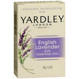 Yardley of London English Lavender Naturally Moisturizing Bar with Essential Oils Flowering English Lavender