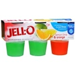 Jell-O Low Calorie Gelatin Snacks 6 Pack Lemon-Lime & Orange