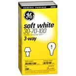 GE Light Bulb Soft White 3-Way 30-70-100 Watt General Purpose A21