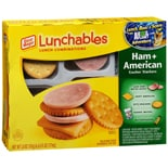 Oscar Mayer Lunchables Lunch Combinations Ham + American Cracker Stackers