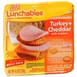 Oscar Mayer Lunchables Lunch Combinations Turkey + Cheddar with Crackers