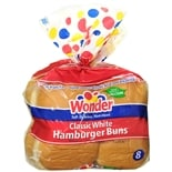 Wonder Hamburger Buns 8 Pack Classic White