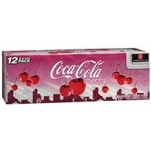 Coke Soda 12 Pack Cans, Cherry