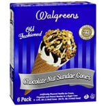 Walgreens Old Fashioned Sundae Cones 6 Pack Chocolate Nut