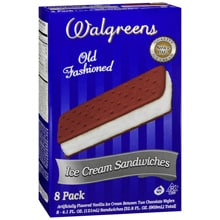Old Fashioned Ice Cream Sandwiches 8 Pack, Vanilla