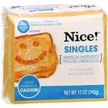 Nice! Singles Pasteurized Process Cheese Food American