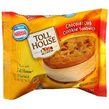 Toll House Frozen Dairy Dessert, Chocolate Chip Cookie Sandwich
