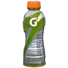 G Series Recover Post-Game Protein Recovery Beverage, Lemon-Lime Orange