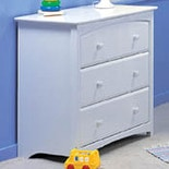Storkcraft Beatrice 3 Drawer Chest White