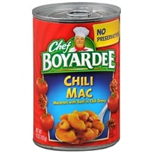 Chili Mac Canned Pasta