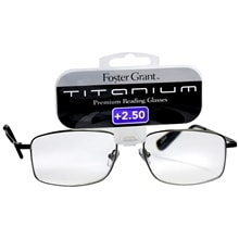 Titanium Metal Premium Reading Glasses T10 +2.50, Silver