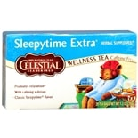 Celestial Seasonings Wellness Tea Herbal Supplement Tea Bags Sleepytime Extra