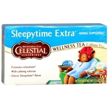 Wellness Tea Herbal Supplement Tea Bags, Sleepytime Extra