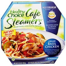 Cafe Steamers Frozen Entree, Grilled Basil Chicken