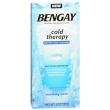 Bengay Cold Therapy Menthol Pain Relieving Gel Vanishing Scent