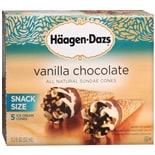 Haagen-Dazs All Natural Sundae Cones 5 Pack Vanilla Chocolate