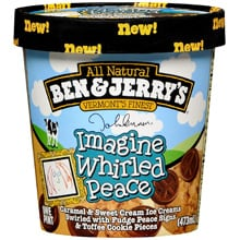 John Lennon Imagine Whirled Peace Ice Cream