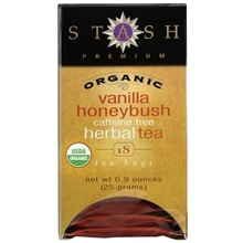 Premium Organic Herbal Tea Bags, Vanilla Honeybush