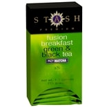 Stash Premium Green & Black Tea Bags with Matcha Fusion Breakfast