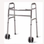Medline Bariatric Folding Walker with 5 inch Wheels