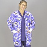 Medline Scrubs Scrub Jacket Ladies' Shirttail with Knit Cuff Medium/Angel Face