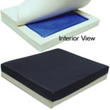 Hudson Medical Gel Foam Wheelchair Cushion with Pressure Eez Cover 18x18x2