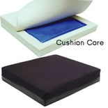Hudson Medical Gel Foam Wheelchair Cushion with Rehab Cover 18x18x2