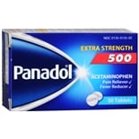 Panadol Pain Reliever/Fever Reducer Tablets Extra Strength 500