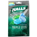 Halls Defense Mentho-Lyptus Cough Drops Sugar Free Assorted Mint Flavors