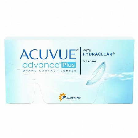 Acuvue Advance Plus 6 Pack Contact Lenses 1 Box