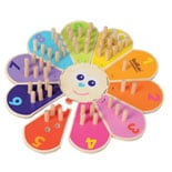 BioKido Eco-friendly Wooden Flower Counting Game