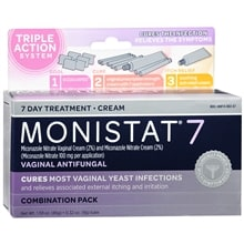 Monistat 7 Vaginal Antifungal Combination Pack Cream