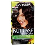 Garnier Nutrisse Ultra Color Permanent Hair Color Kit Reflective Auburn Black