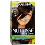 Garnier Nutrisse Ultra Color Permanent Hair Color Kit Reflective Bronze Black