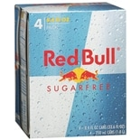 Red Bull Energy Drink 4 Pack Sugar Free